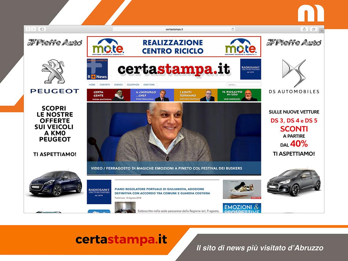 Certastampa.it è isito d'informazione più visitato d'Abruzzo